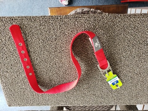 Top Paw Large Buckle Collar Red