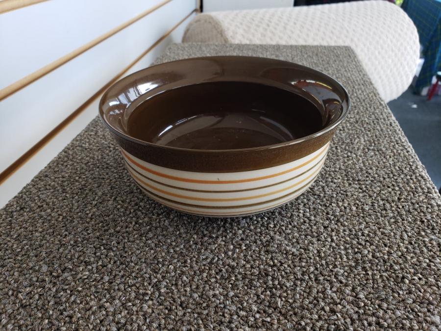 Brown Striped Bowl