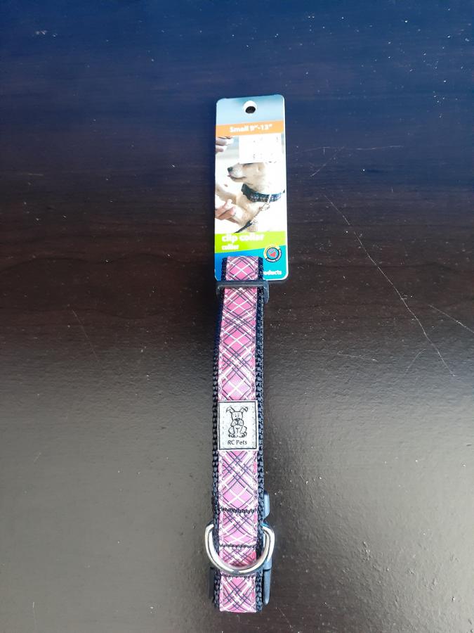 RC Pets Pink Tartan Clip Collar
