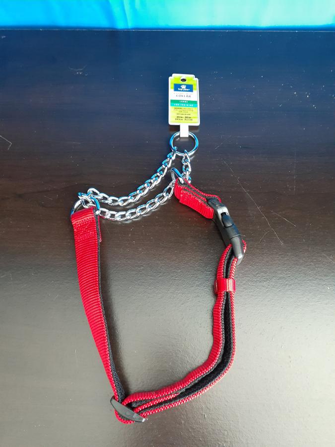 Top Paw Padded Choke Collar Red