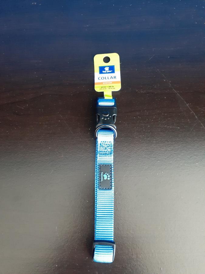 Top Paw Adj Light Blue Collar