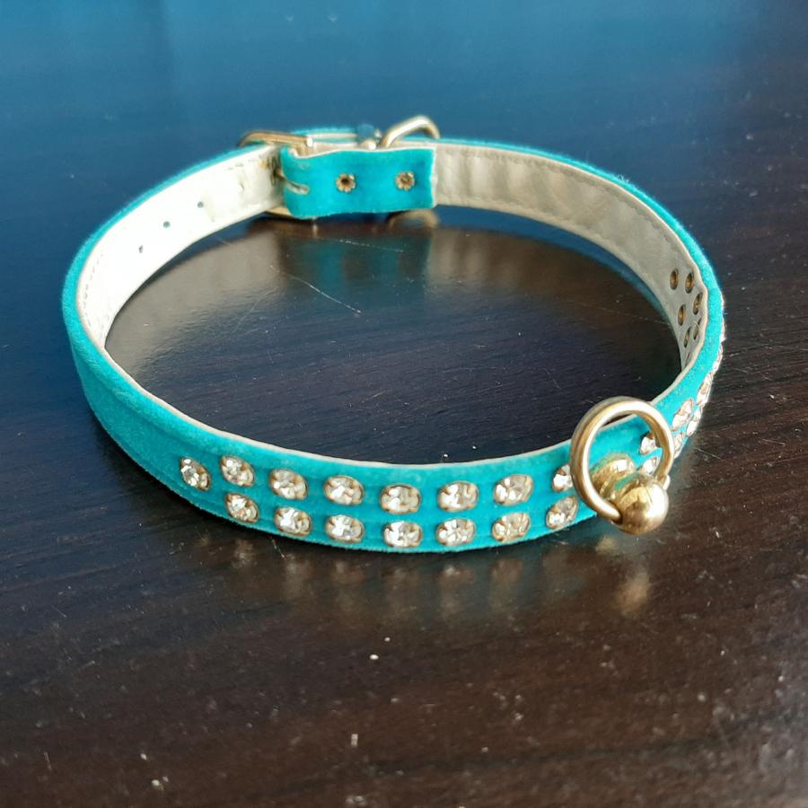 Jeweled Collar Blue White