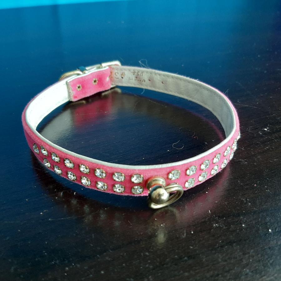 Jeweled Collar Pink White