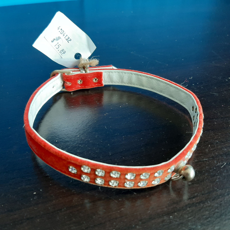 Jeweled Collar White Red