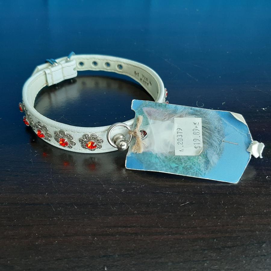 White/Red Jeweled Collar