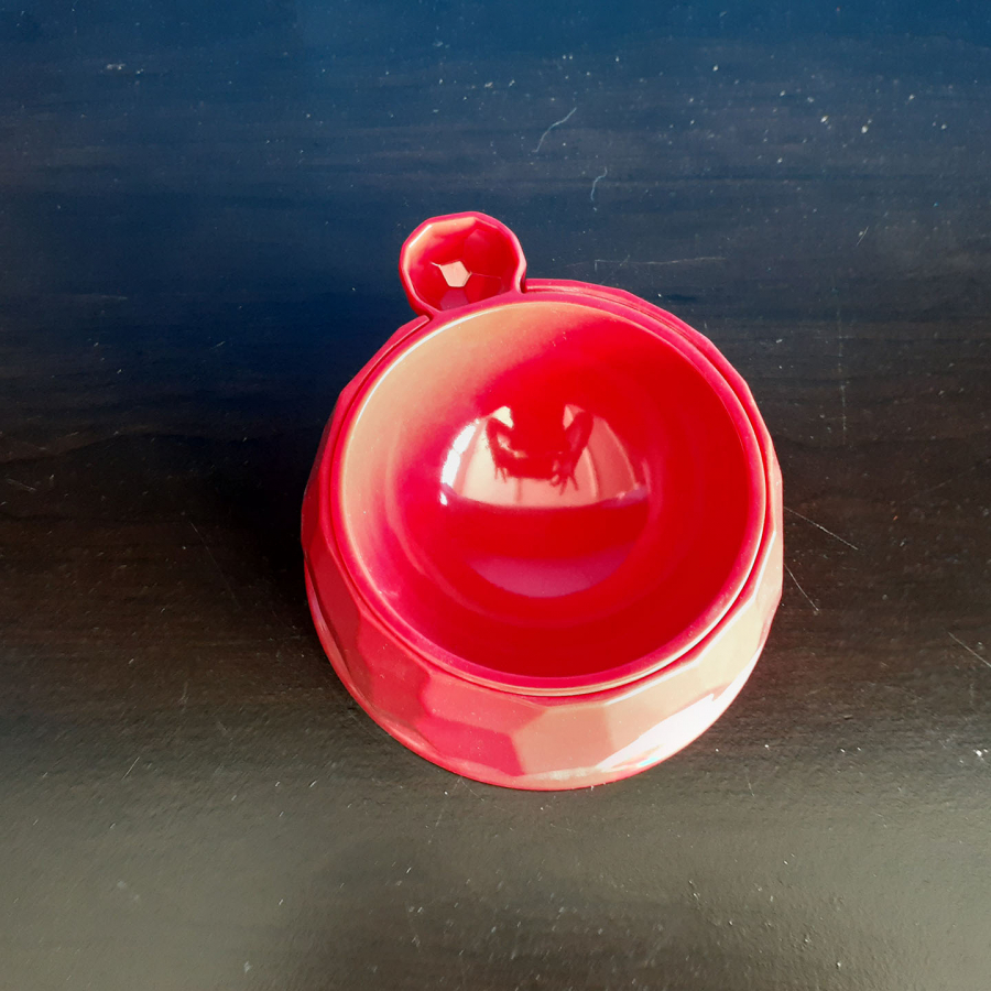 Diamond Pet Kit Tea Bowl Red